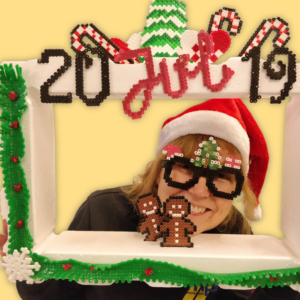 Christmas decoration with ironing beads