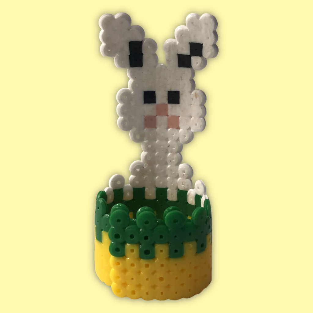 Easter Bunny Napkin Ring made with NABBI beads