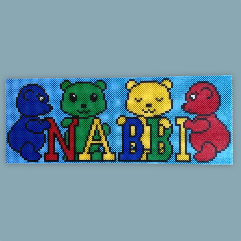 Sign made with NABBI ironing beads