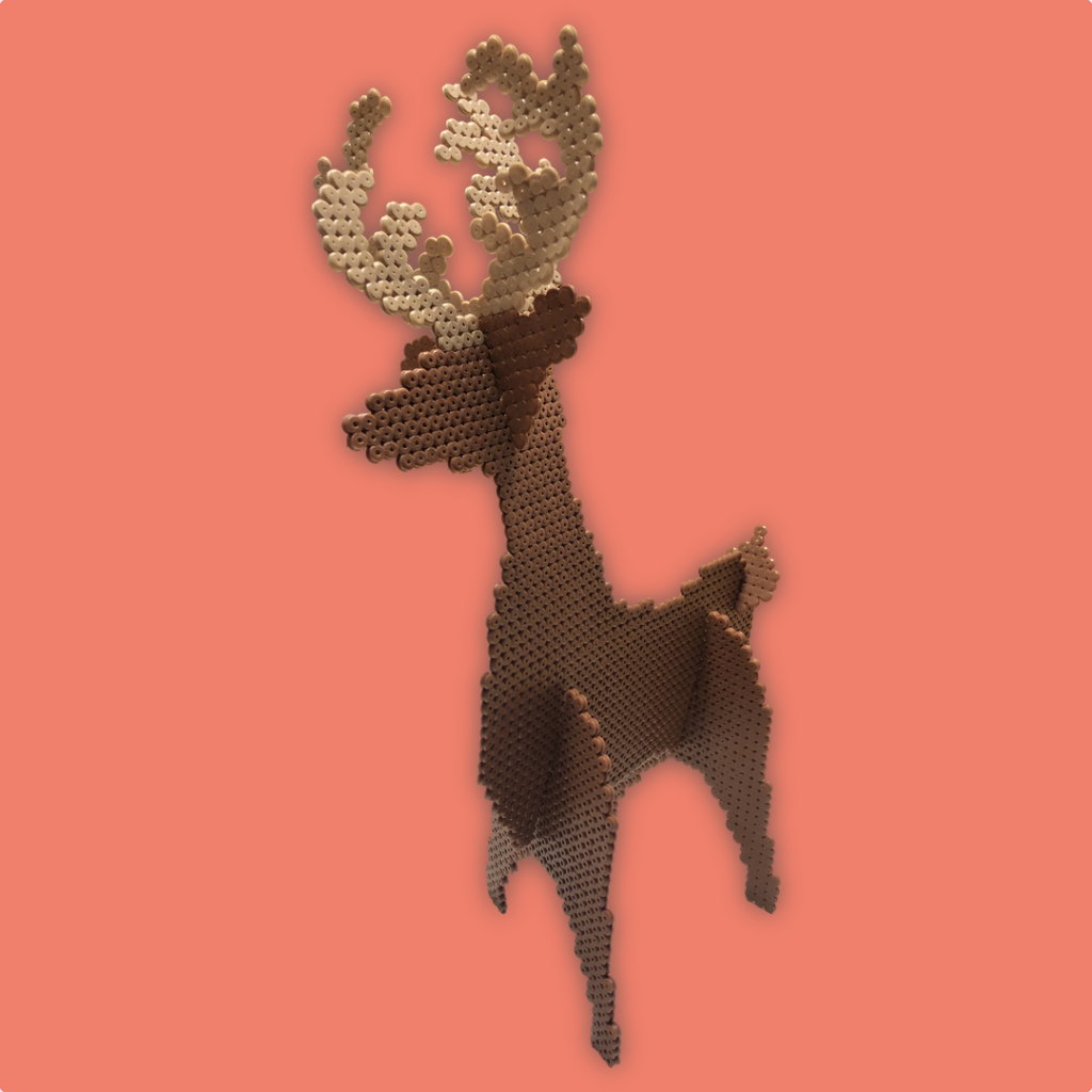 Christmas crafts: 3D Reindeer made with NABBI ironing beads