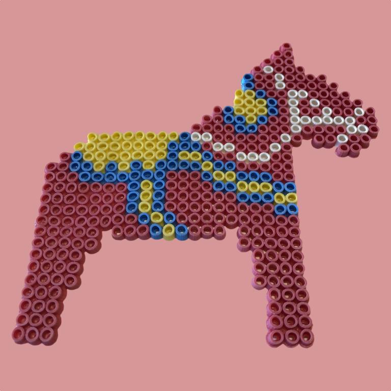 Beaded Dala Horse
