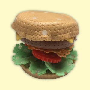 Beaded hamburger
