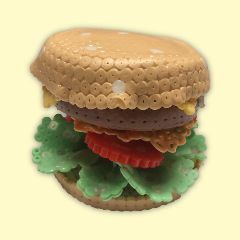 Beaded hamburger