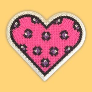 Pink heart - Large heart shape pegboard