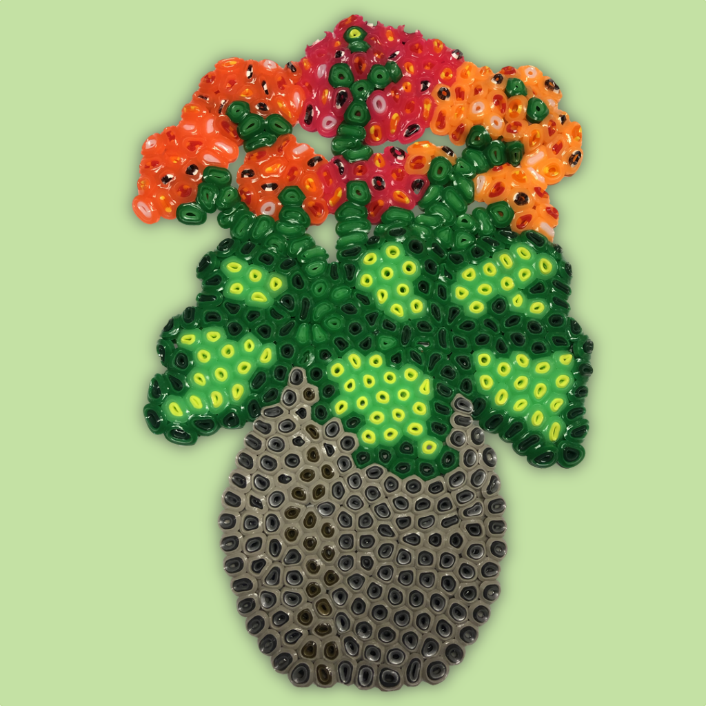 Houseplant made of NABBI Jumbo beads