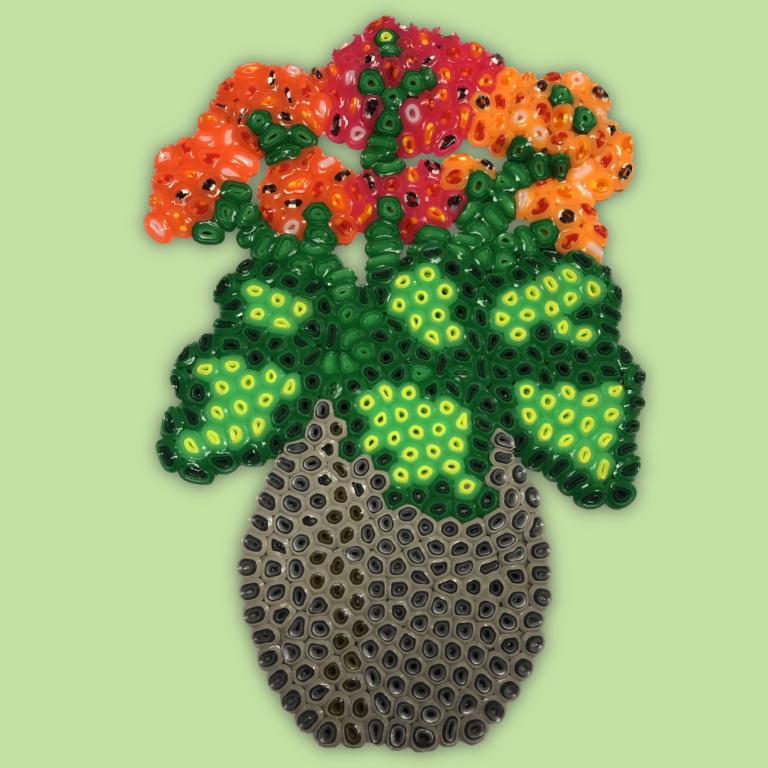 Flower made of Jumbo beads