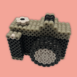 Camera made with beads in 3d