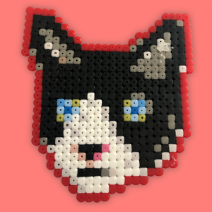Black cat made with beads