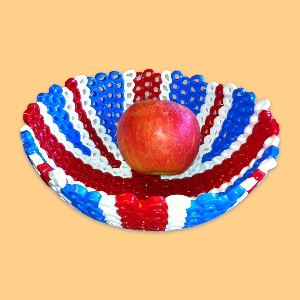 Basket with Union Jack pattern