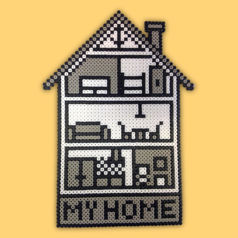 House made with beads