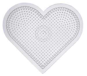 Transparent heart shaped pegboard