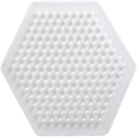 Hexagonal shaped pegboard