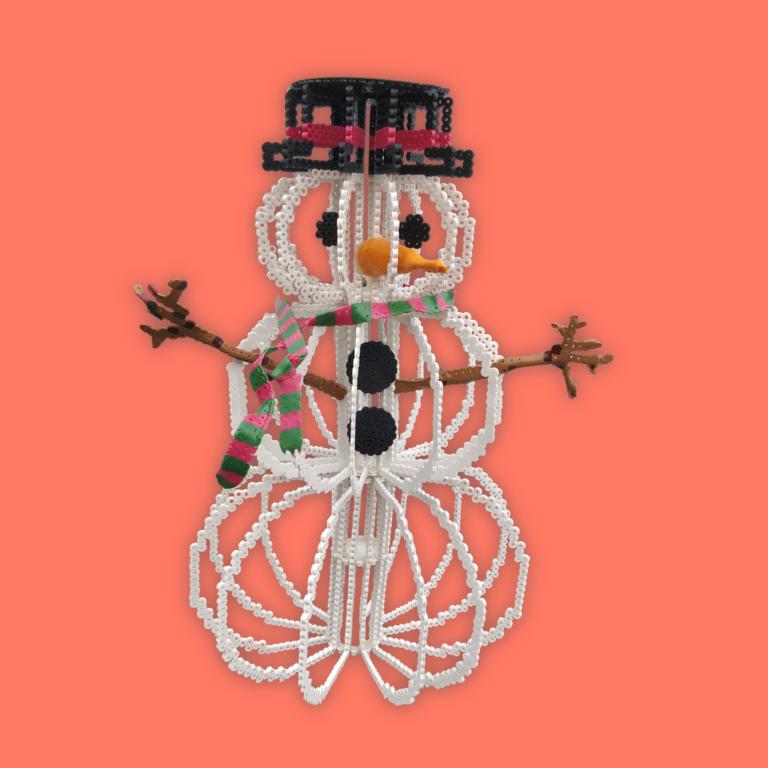 Snögubbe 3D pärlor