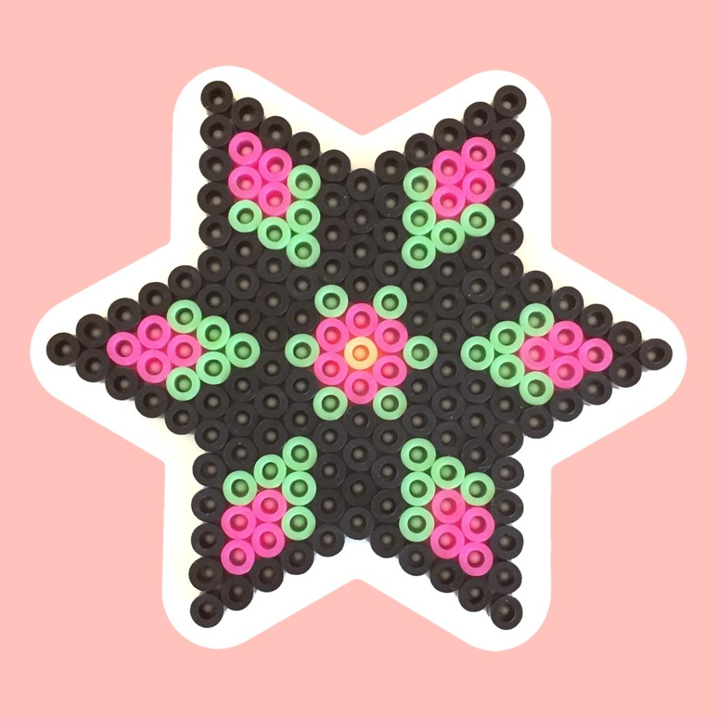 Star shaped pegboard for NABBI beads