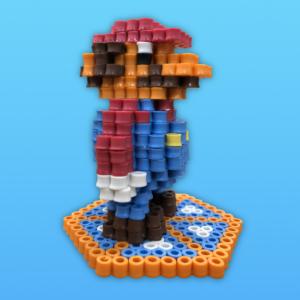 Super Mario 3D pärlplatta